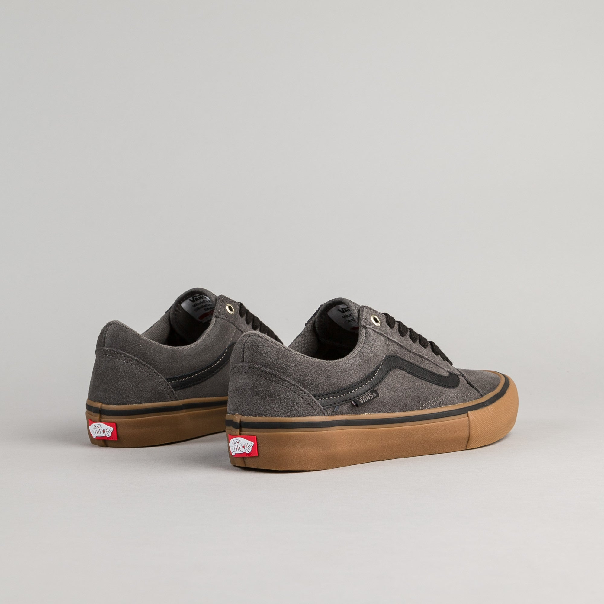 148aa3d0be ... Vans Old Skool Pro Shoes - Grey   Black   Gum ...