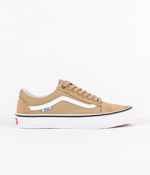 Vans Old Skool Pro Shoes - Khaki / White