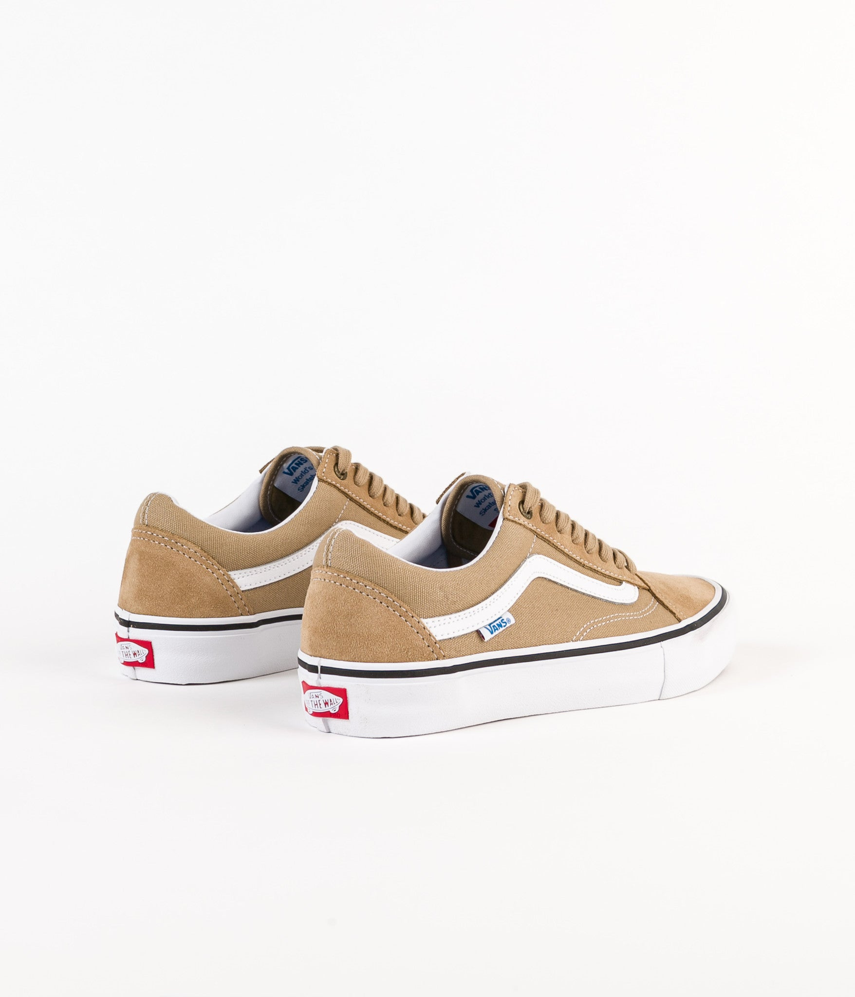 vans old skool pro shoes khaki white flatspot. Black Bedroom Furniture Sets. Home Design Ideas