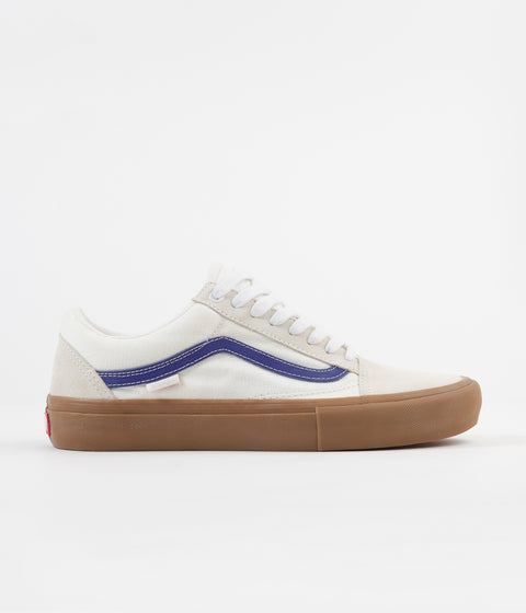 Vans Old Skool Pro Shoes - Marshmallow / Blue