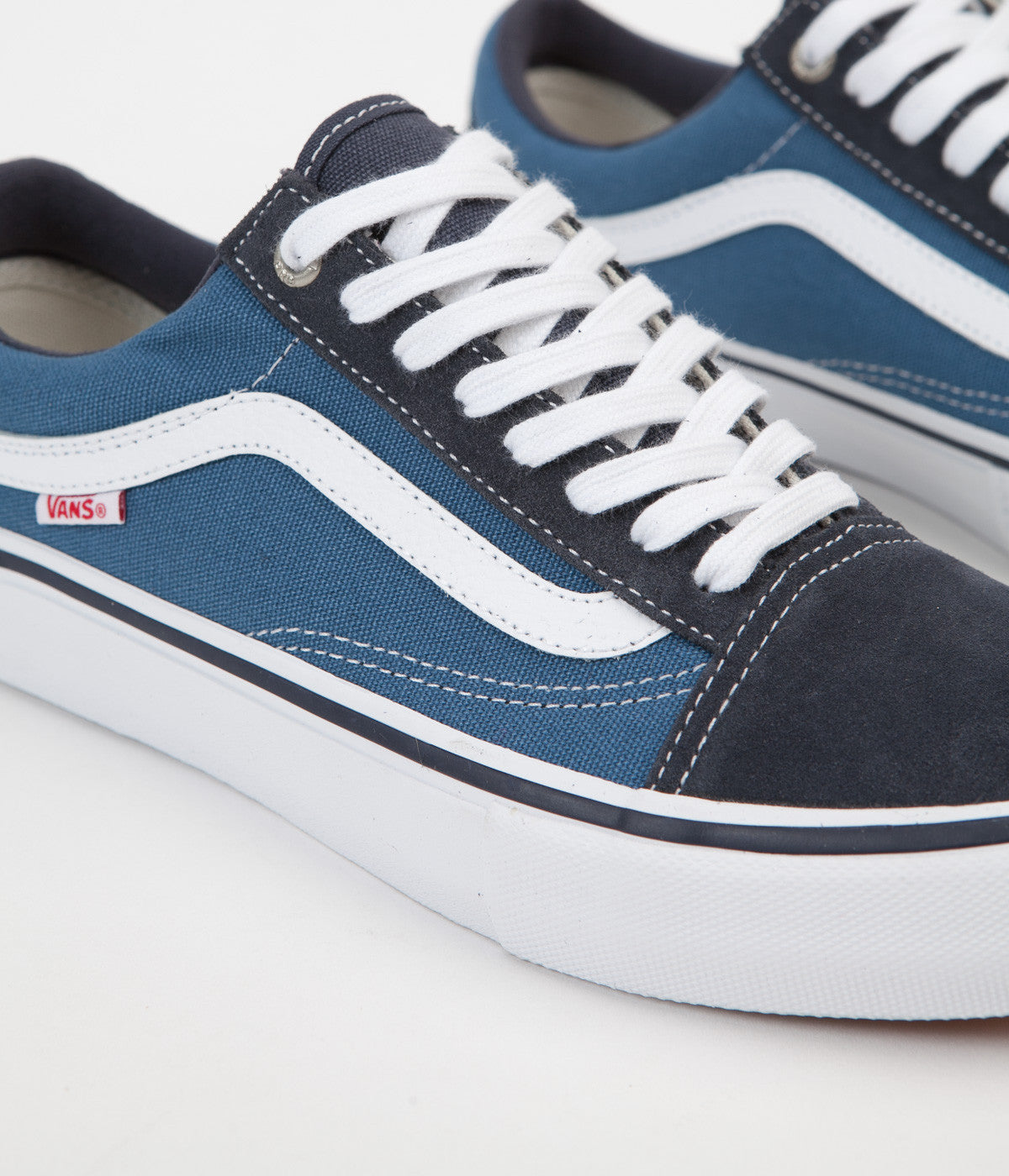 factory outlets shop for newest Discover Vans Old Skool Pro Shoes - Navy / STV Navy / White | Flatspot