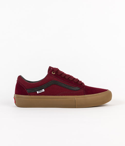 Vans Old Skool Pro Shoes - Port / Black / Gum