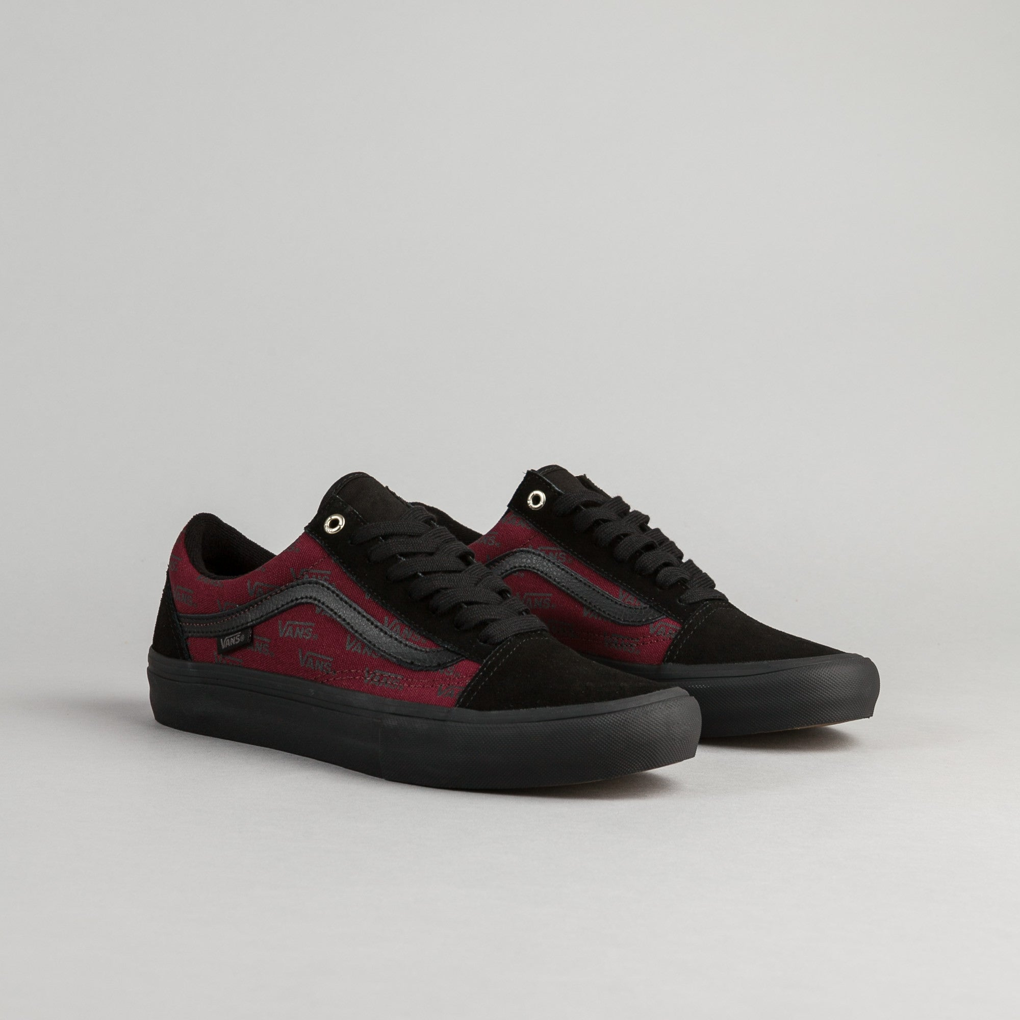 06ebfc2ba9d8e2 ... Vans Old Skool Pro Shoes - Port Royale   Black ...