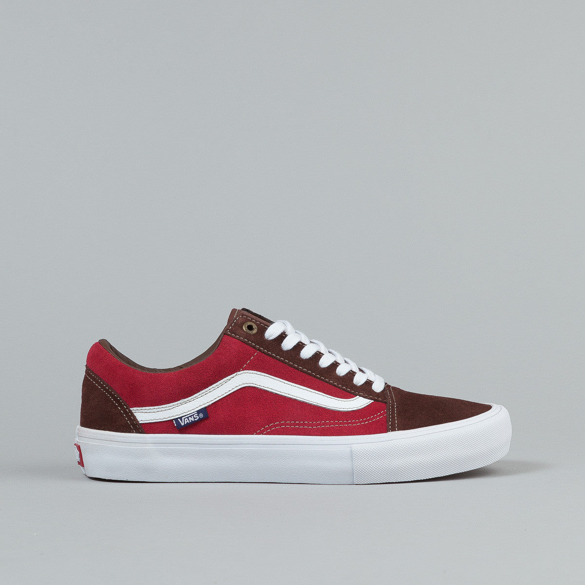 Vans Old Skool Pro Shoes - Potting Soil / Jester Red