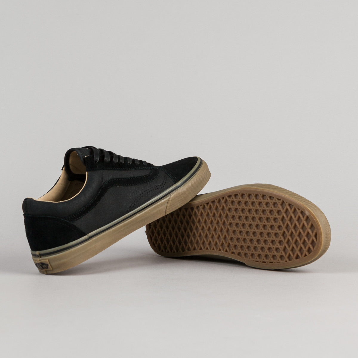 mens vans black old skool reissue dx trainers