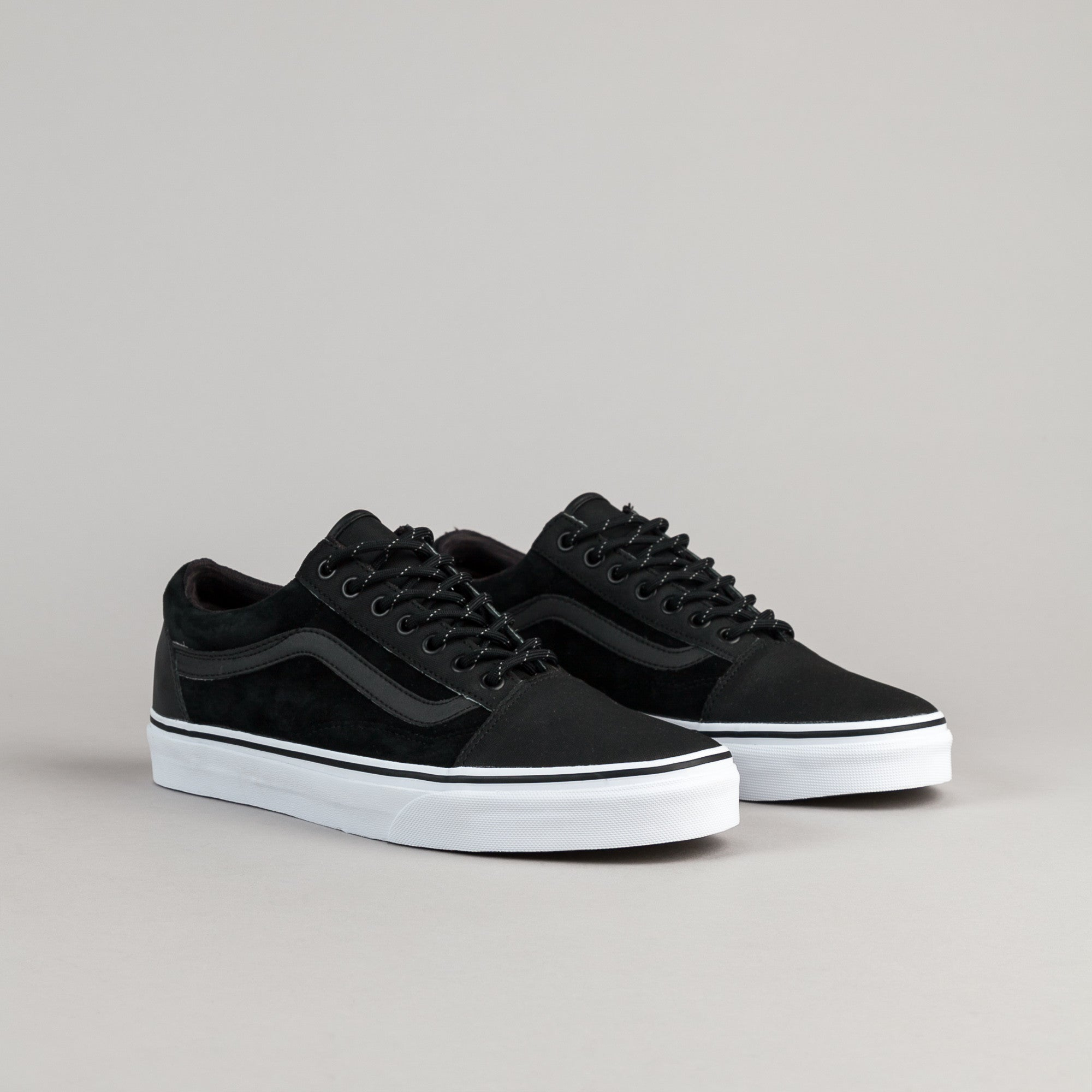 vans old skool reissue dx black leather