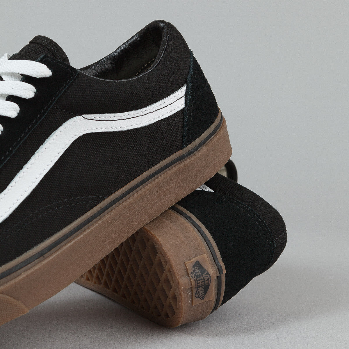 vans black and beige