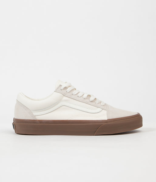 Vans Old Skool Shoes - (Suede/Canvas) White / Gum
