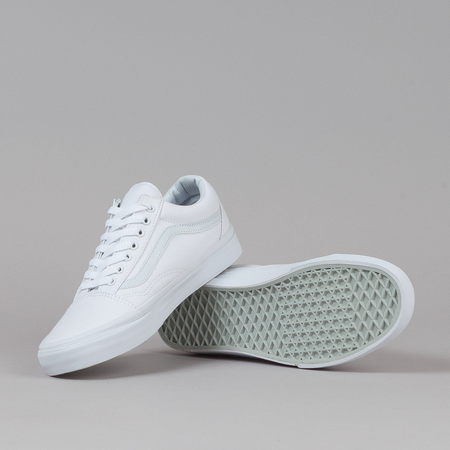 Vans Old Skool Shoes - True White Canvas