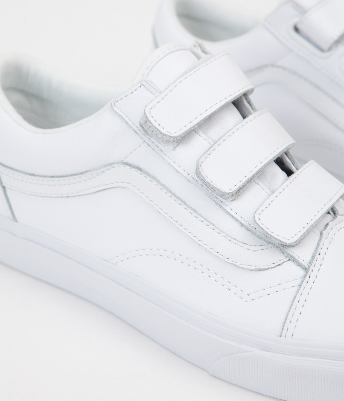 vans old skool white velcro