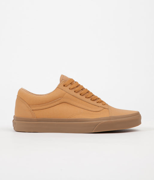 Vans Old Skool Vansbuck Shoes - Light Gum / Mono