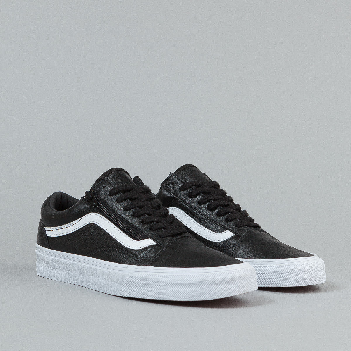vans old skool zip shoes premium leather black flatspot. Black Bedroom Furniture Sets. Home Design Ideas