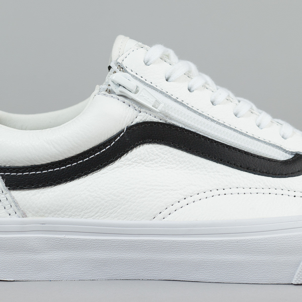 Discount Eastbay Vans Old Skool Zip Premium Leather in White Shop For For  Sale Purchase For e79d35836fce