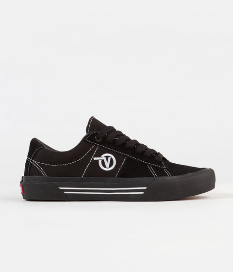 Vans Saddle Sid Pro Shoes - Black / Black / White
