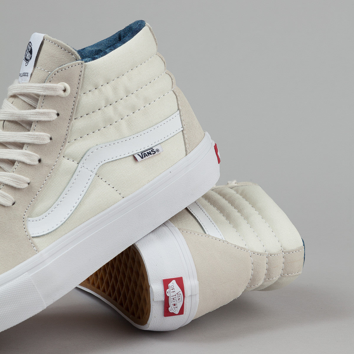 Vans Sk8-Hi Pro Shoes - (Acid Wash) White