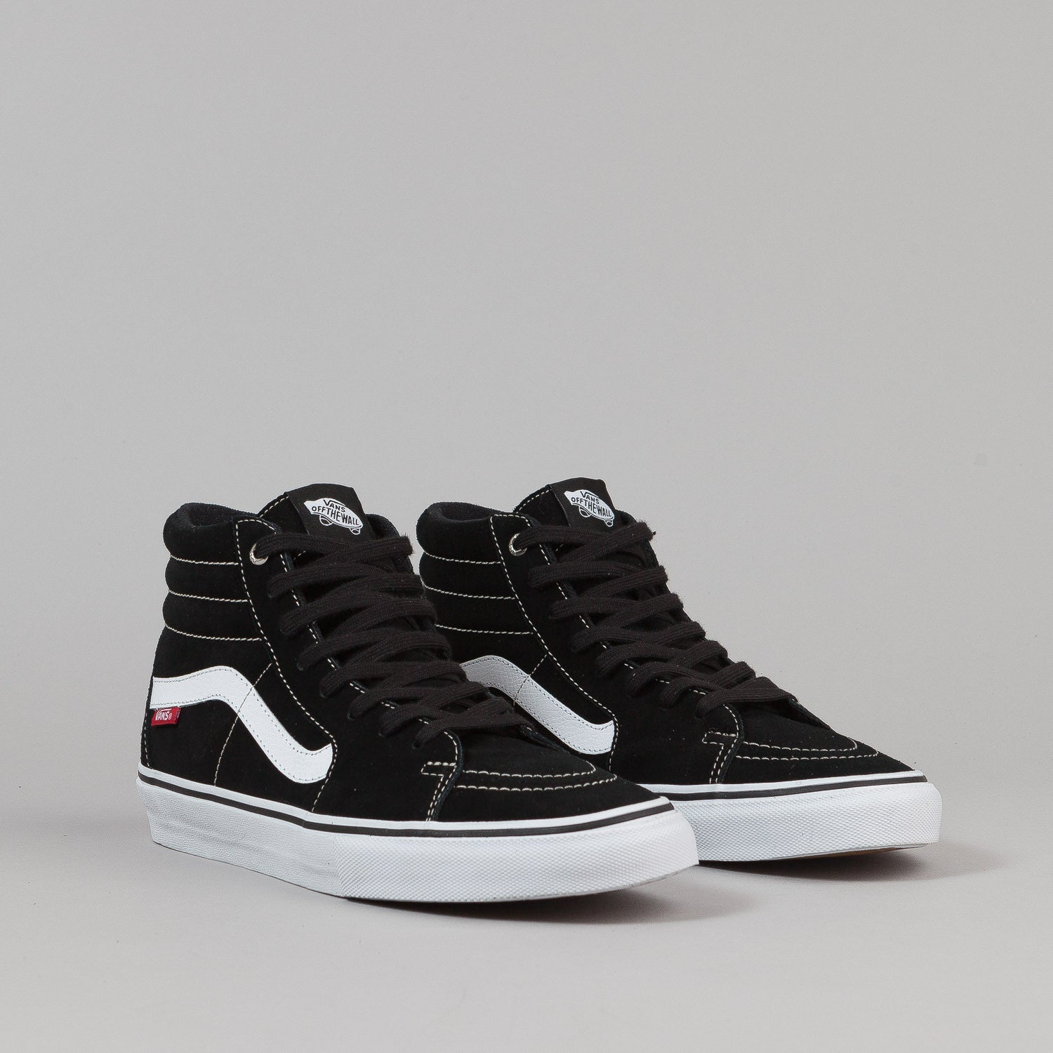 Vans Sk8-Hi Pro Shoes - Black / White / Red