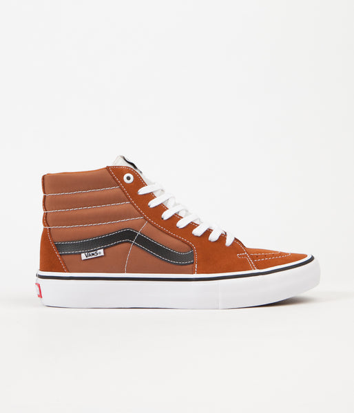 Vans Sk8-Hi Pro Shoes - Glazed Ginger / Black / White