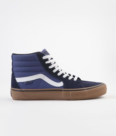 Vans Sk8-Hi Pro Shoes - (Rainy Day) Navy / Gum