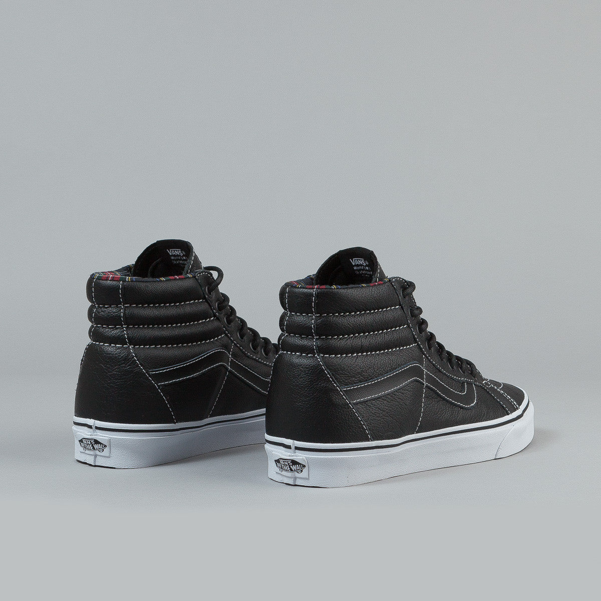 Vans SK8-Hi Reissue (Leather) - Black / Plaid