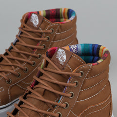 Vans Sk8-Hi Reissue (Leather) - Brown/Guate