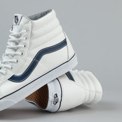 Vans Sk8-Hi Reissue Shoes - (Leather) White / Stripes
