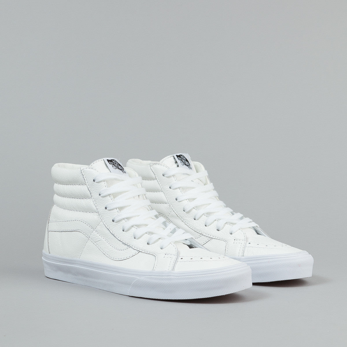 Vans Sk8-Hi Reissue Shoes - (Premium Leather) True White