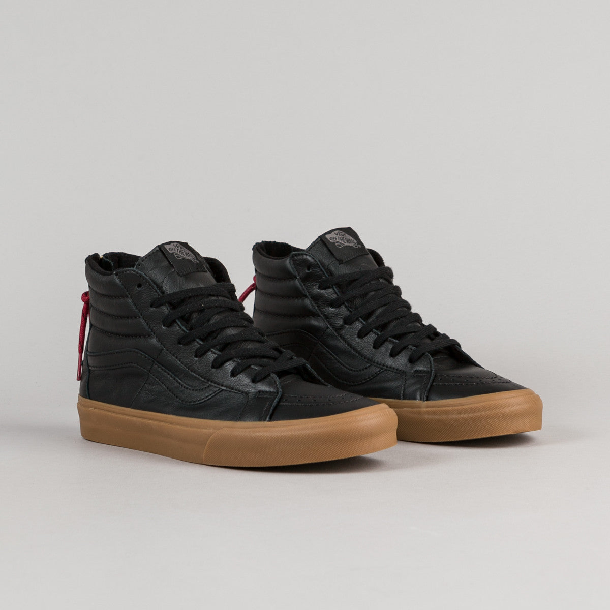 Vans Sk8-Hi Reissue Zip Shoes - Black / Gum