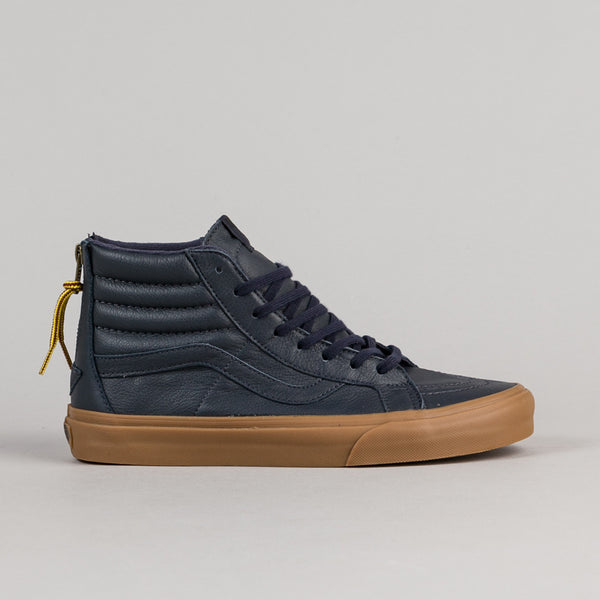 Vans Sk8-Hi Reissue Zip Shoes - Navy / Gum