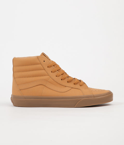Vans Sk8-Hi Vansbuck Reissue Shoes - Light Gum / Mono