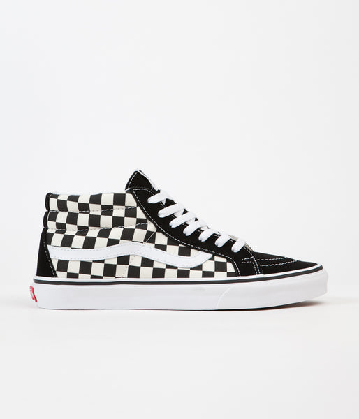 Vans Sk8-Mid Reissue Shoes - Checkerboard / True White