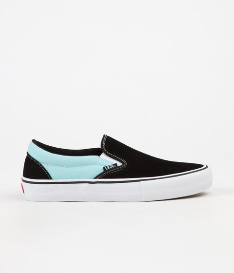 Vans Slip On Pro Asymmetry Shoes - Black / Blue / Rose