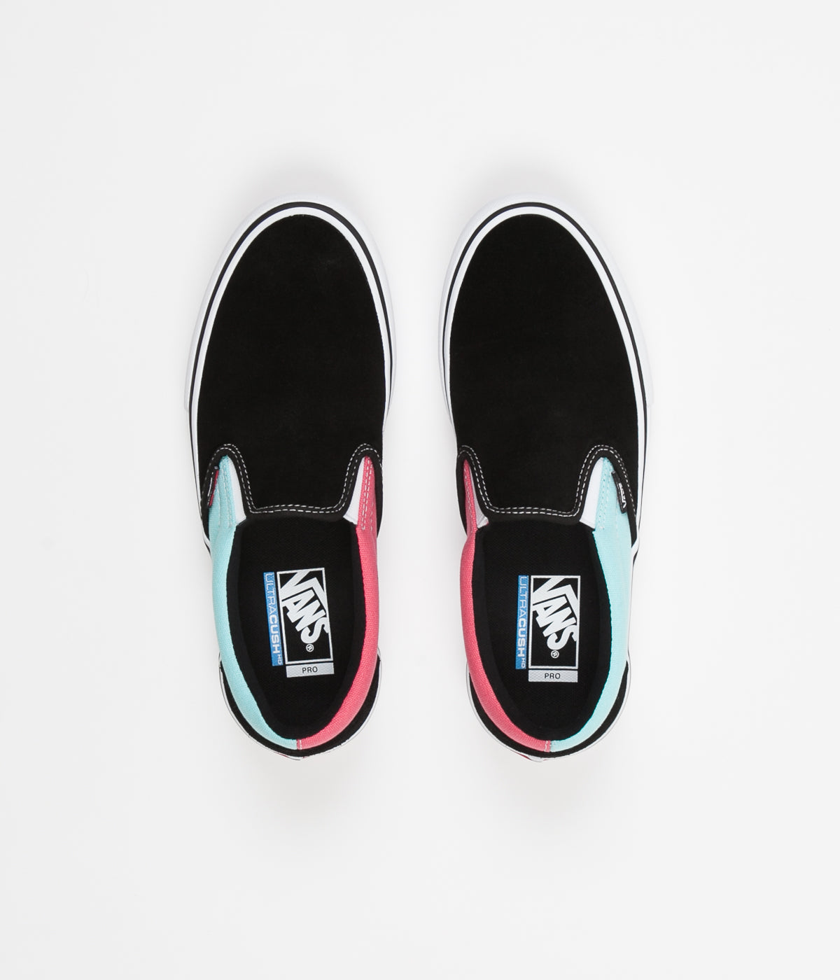 8c44374397 Vans Slip On Pro Asymmetry Shoes - Black   Blue   Rose ...