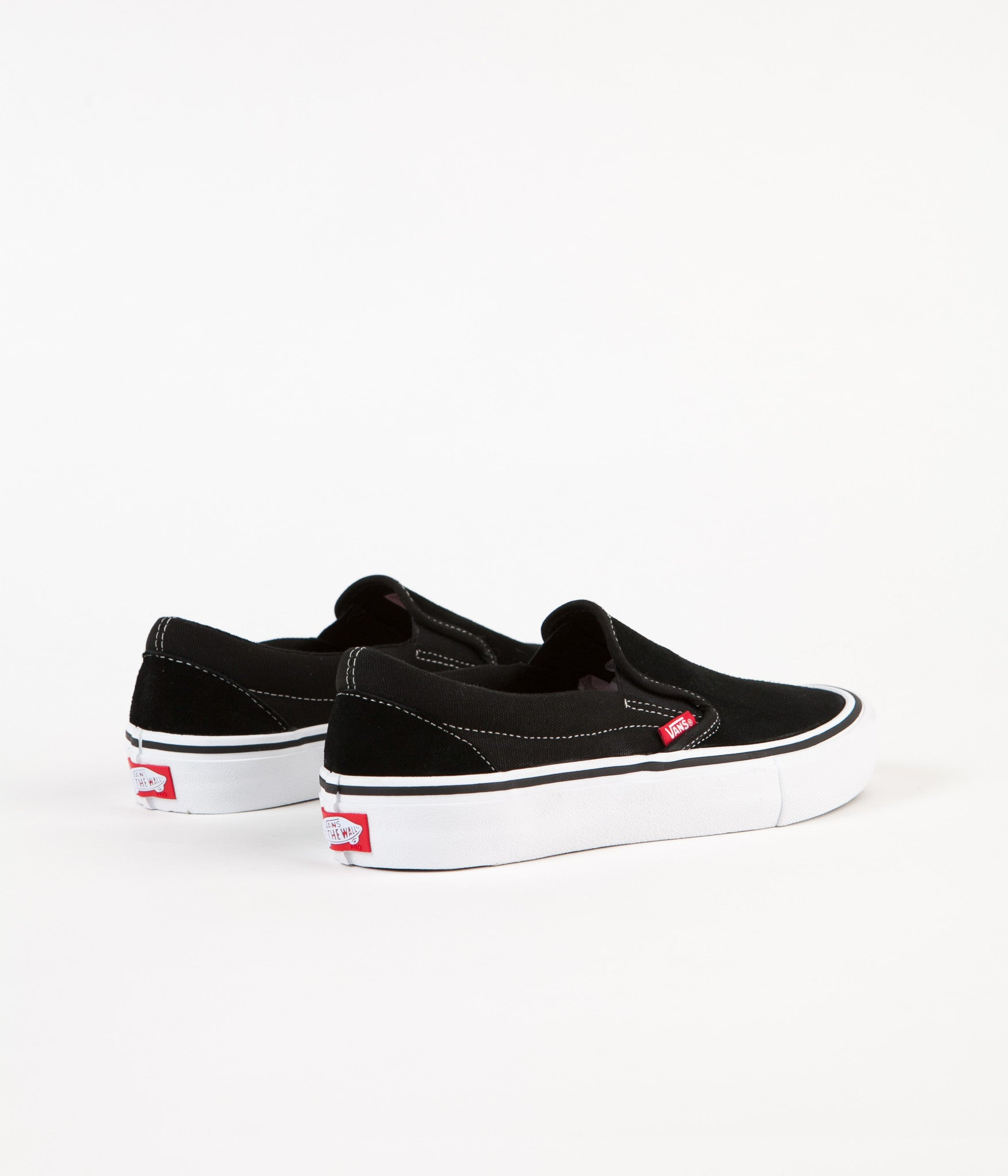 5d45df88ad Vans Slip On Pro Shoes - Black   White   Gum