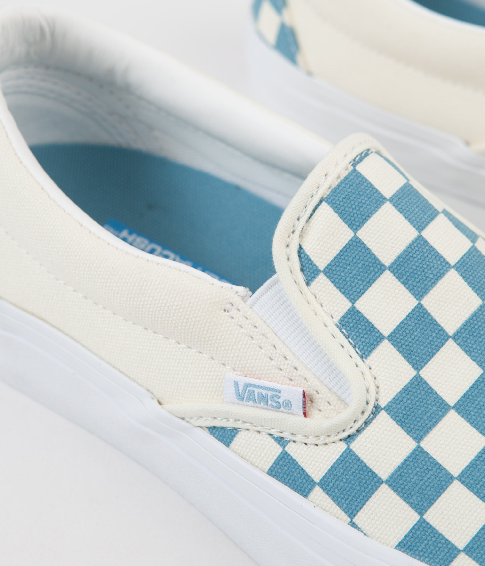 8db641fd406 ... Vans Slip On Pro Checkerboard Shoes - Adriatic Blue   White ...