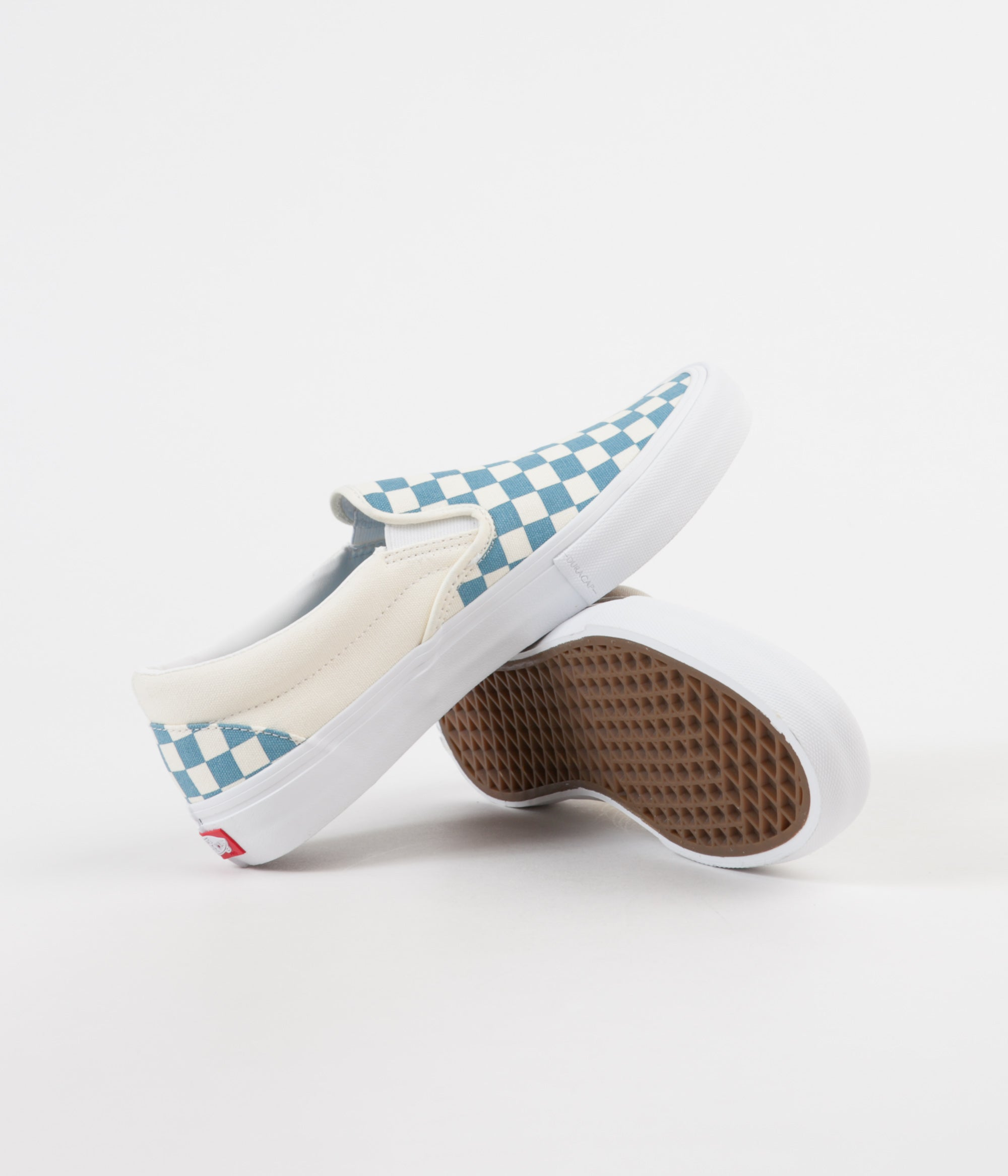 5454f2af74 ... Vans Slip On Pro Checkerboard Shoes - Adriatic Blue   White ...