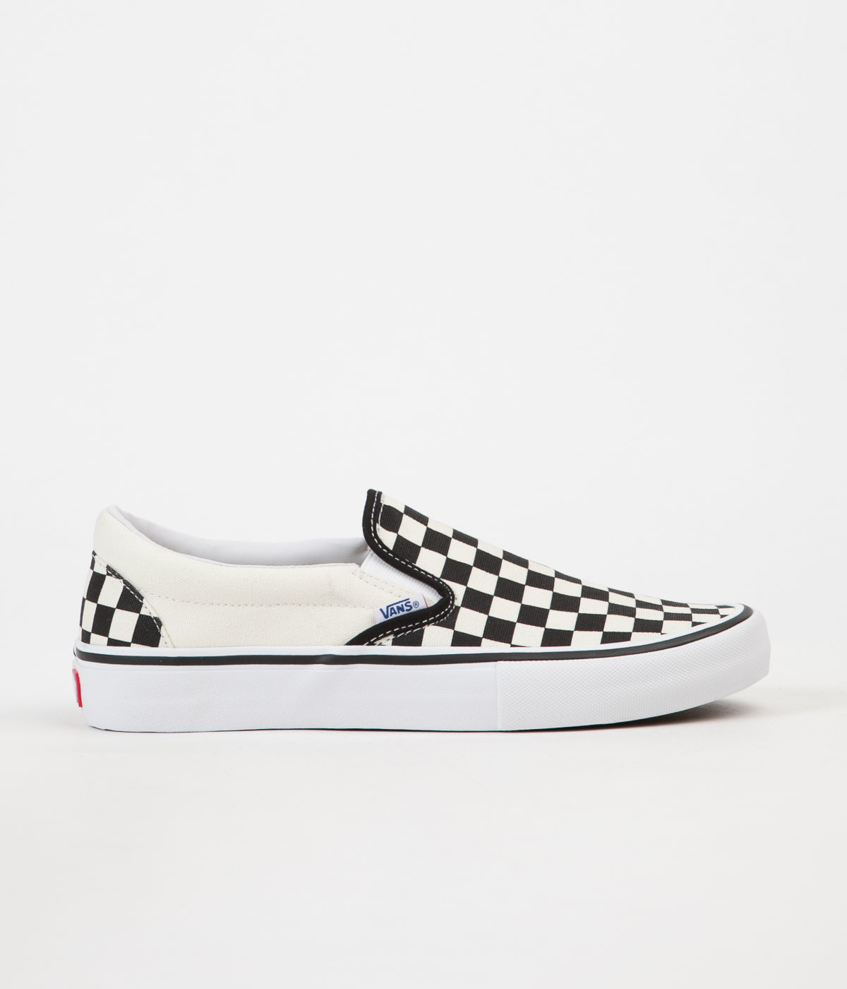 bdd1b2783a82 Vans Slip On Pro Checkerboard Shoes - Black   White