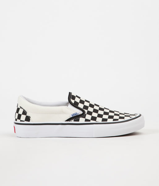 Vans Slip On Pro Checkerboard Shoes - Black   White  6ef1bb52a