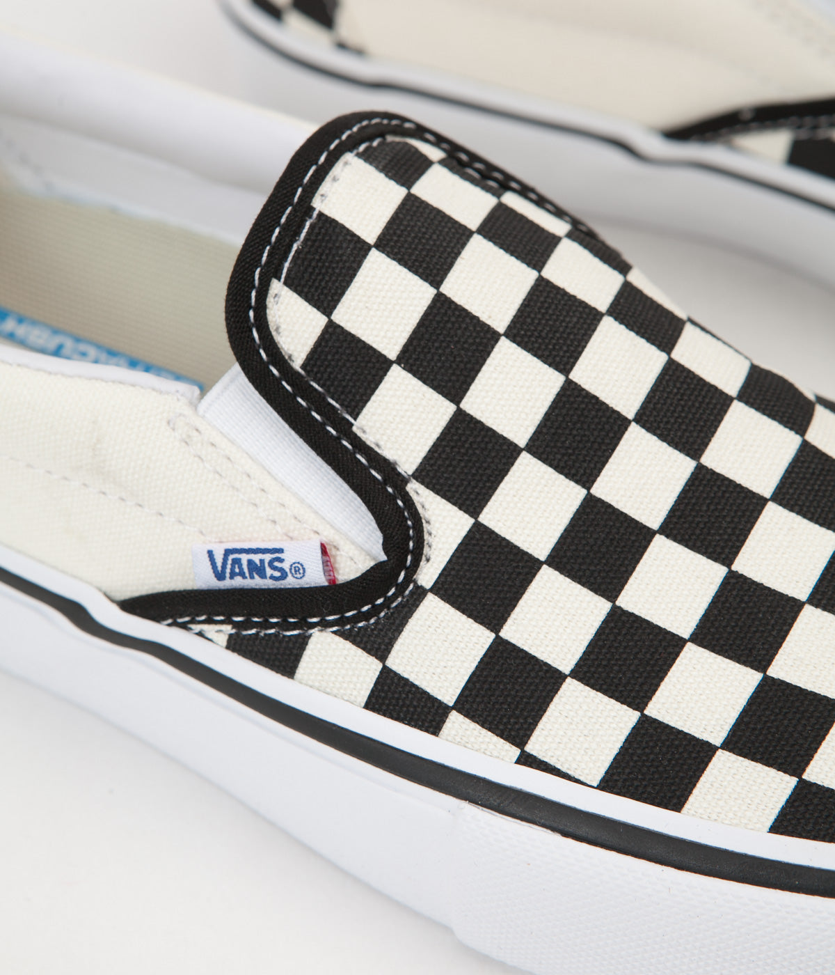 Vans Slip-On Pro Checkerboard Shoes - Black / White