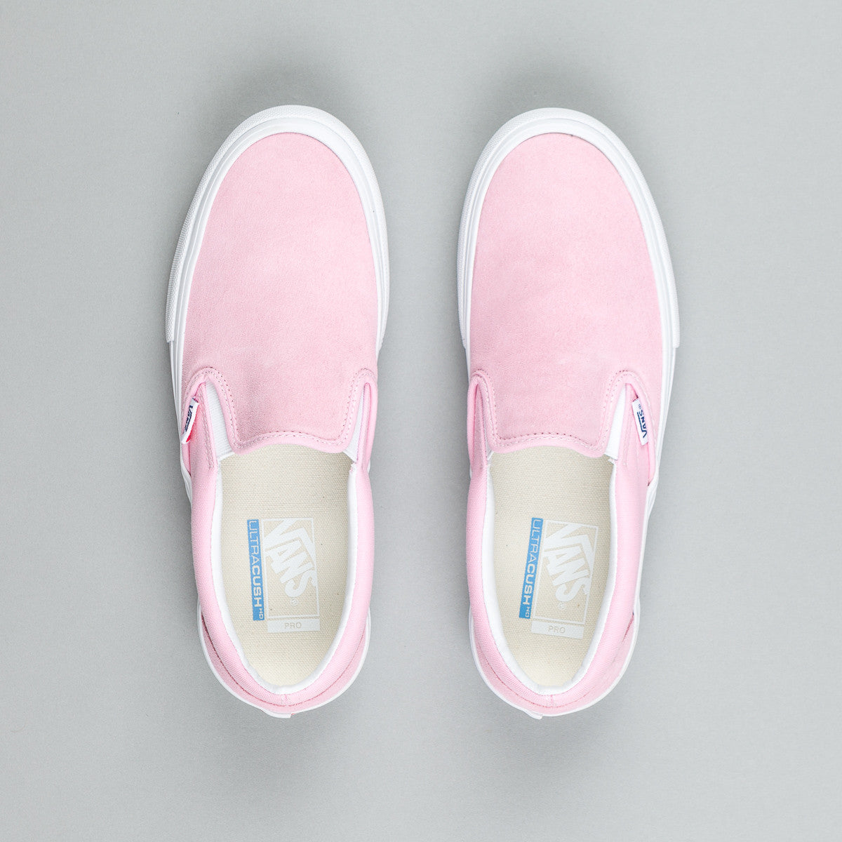 Vans Slip On Pro Shoes - Candy Pink / White
