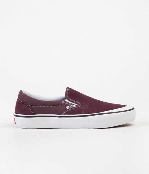 Vans Slip On Pro Shoes - Raisin / White