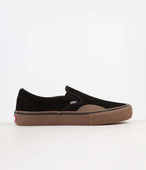 Vans Slip On Pro Shoes - (Rubber) Black / Gum
