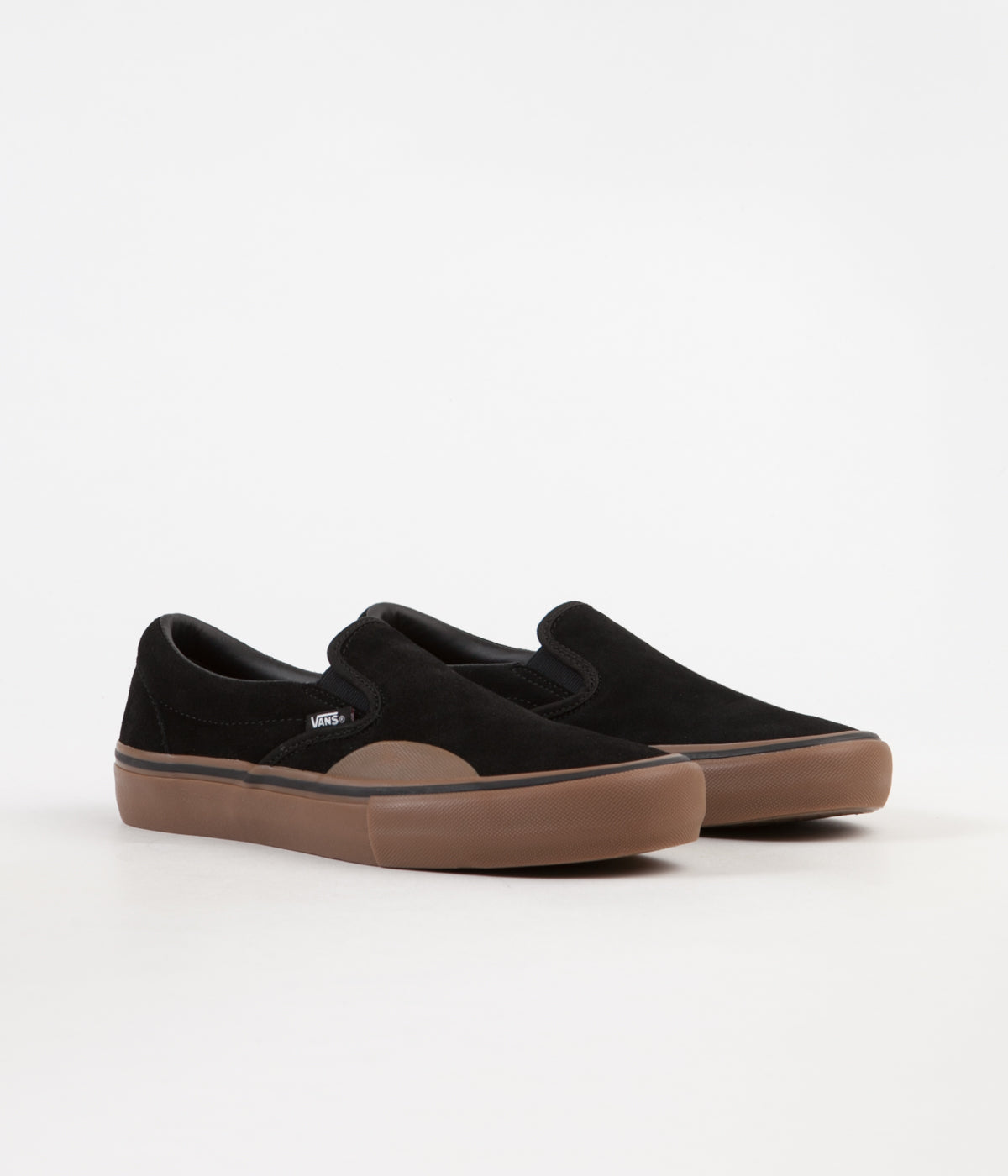 8bcf1a1e1c ... Vans Slip On Pro Shoes - (Rubber) Black   Gum ...