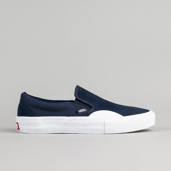 Vans Slip On Pro Shoes - (Rubber) Dress Blues / White