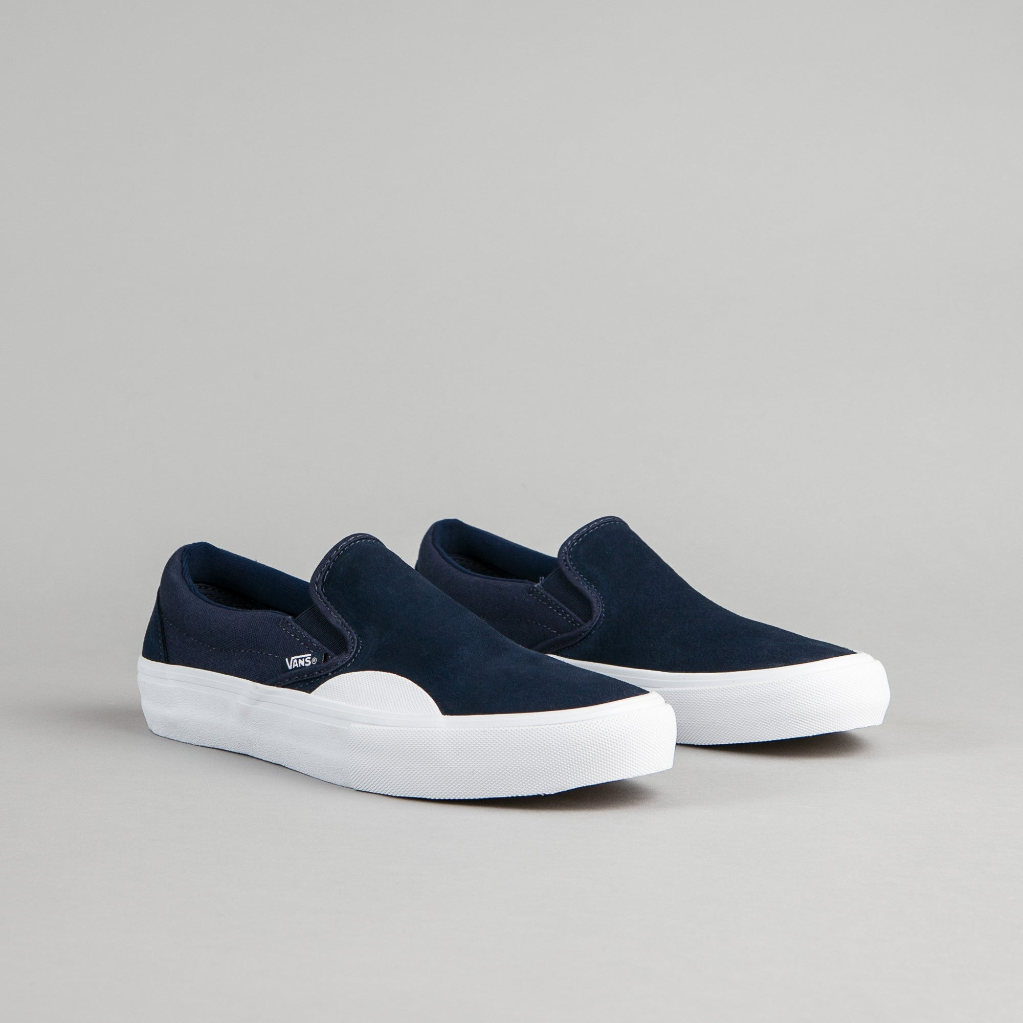 89a710d778eff6 ... Vans Slip On Pro Shoes - (Rubber) Dress Blues   White ...
