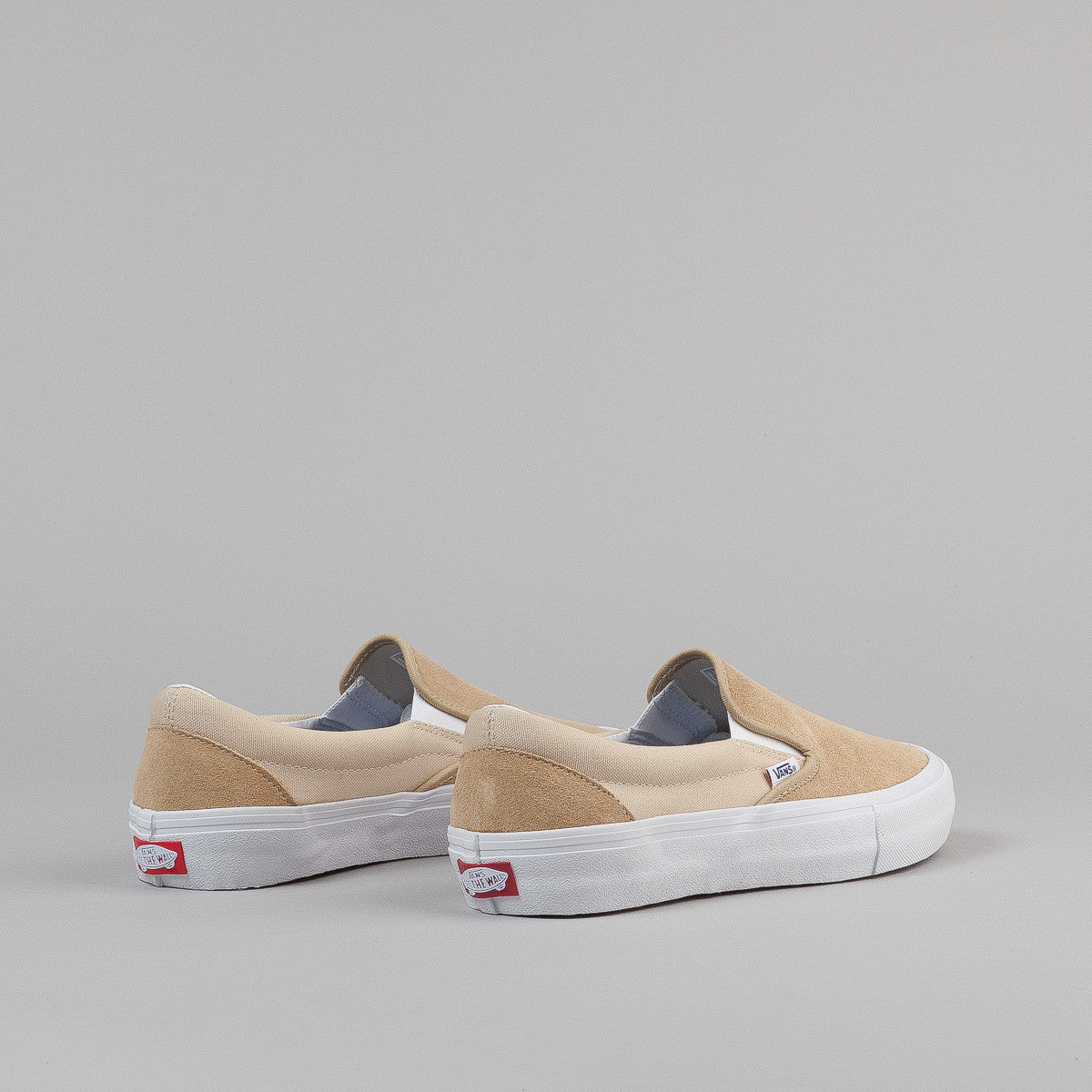 Vans Slip On Pro Shoes - Sand / White