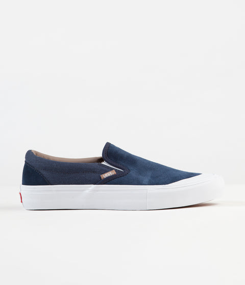 Vans Slip-On Pro Shoes - (Twill) Dress Blues / Portabella