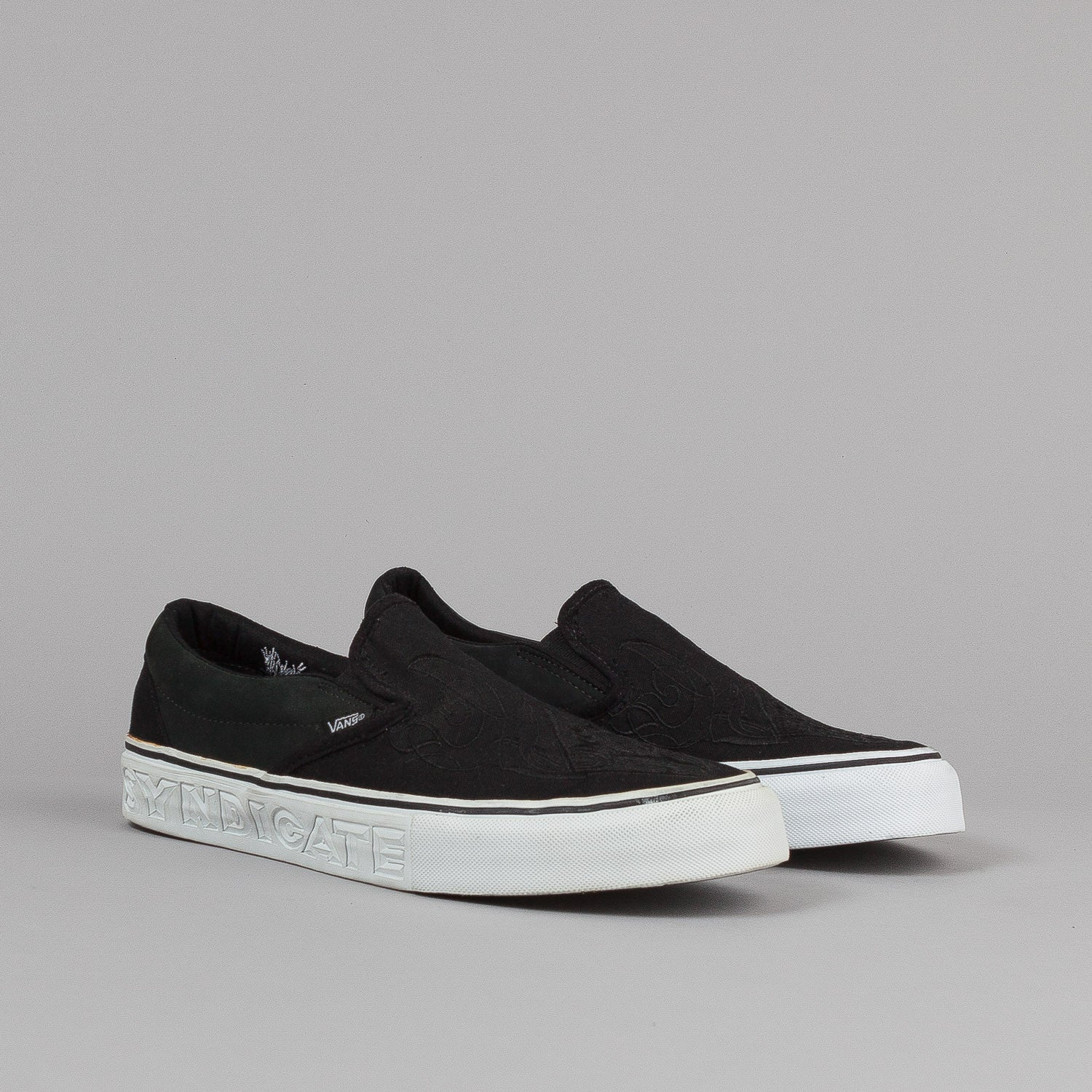 Vans Slip On 'S' Shoes - Black / 'Chaz'