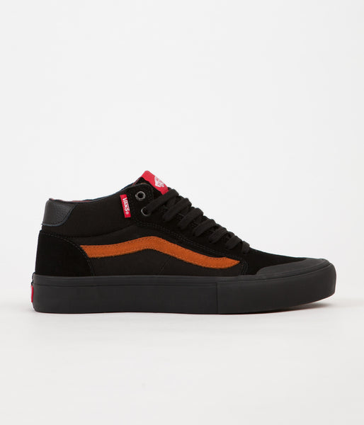 Vans Style 112 Mid Pro Dakota Roche Shoes - Black / Glazed Ginger
