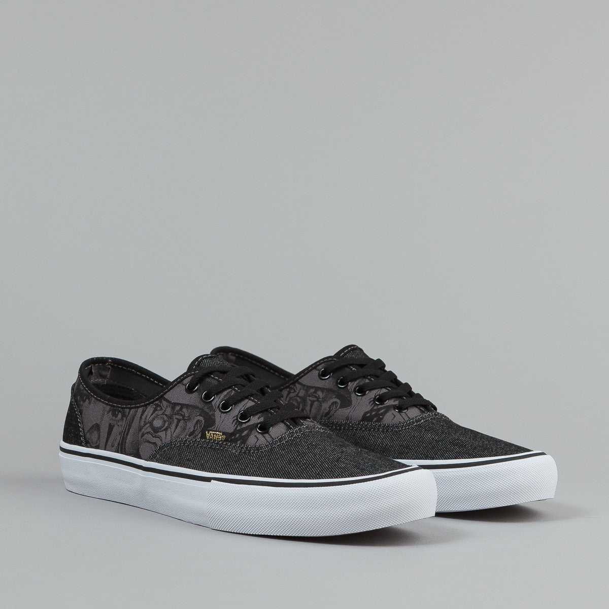 Vans Syndicate Authentic Shoes (Mister Cartoon) Black / Gold