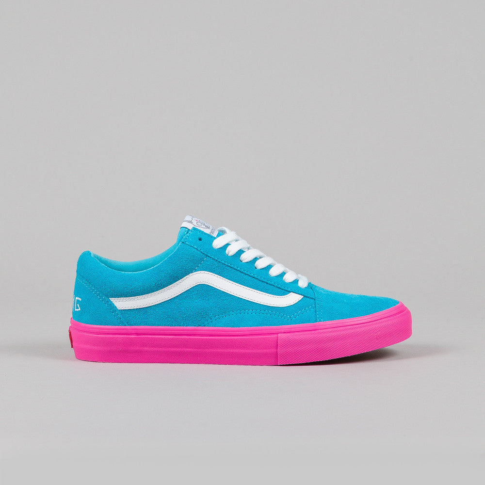 vans syndicate old skool pro 39 s 39 golf wang blue pink. Black Bedroom Furniture Sets. Home Design Ideas